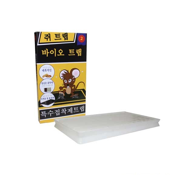 Bẫy dính chuột Biotrap, tấm nhựa mầu trắng, Hộp 2 miếng